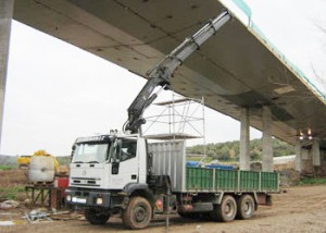 Transporte de maquinaria obra publica - Grúas Muñoz