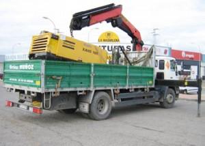 Transporte de maquinas - Grúas Muñoz