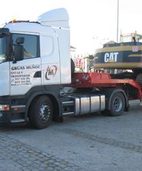 Transporte de maquinaria pesada - Grúas Muñoz